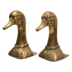 Sarreid Spanish Modern Brass Duck Bookends
