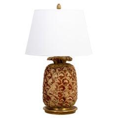 Sarreid Wood Pineapple Lamp