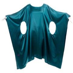 Sartoria dei Dogi Venezia Teal Green Caftan Style Dress With Cutouts in Design
