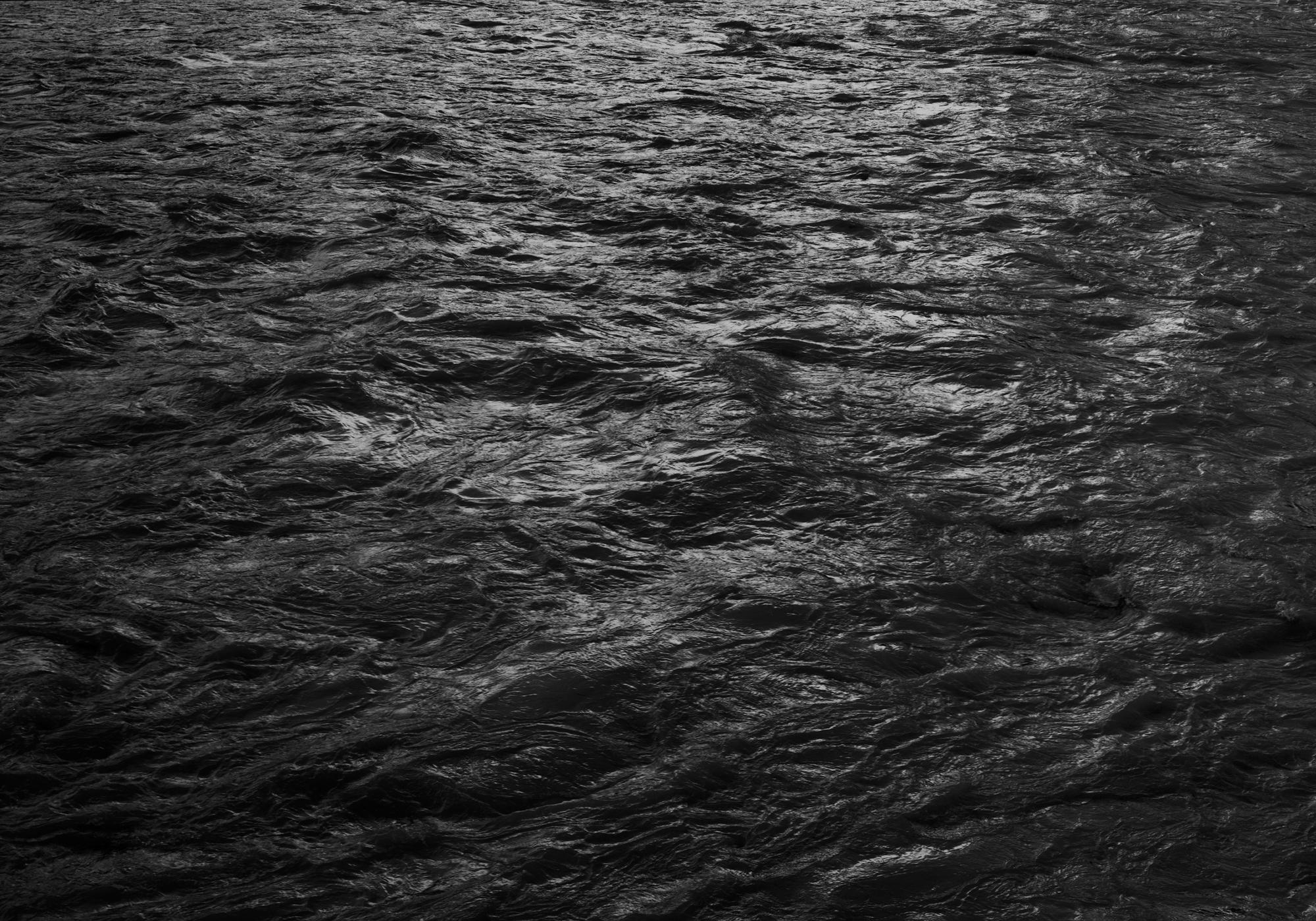 """Black and White Photograph """"Water, 76"""" Minimalist Waterscape, Silver Gelatin"""
