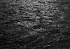 "Black and White Photograph ""Water, 76"" Minimalist Waterscape, Silver Gelatin"