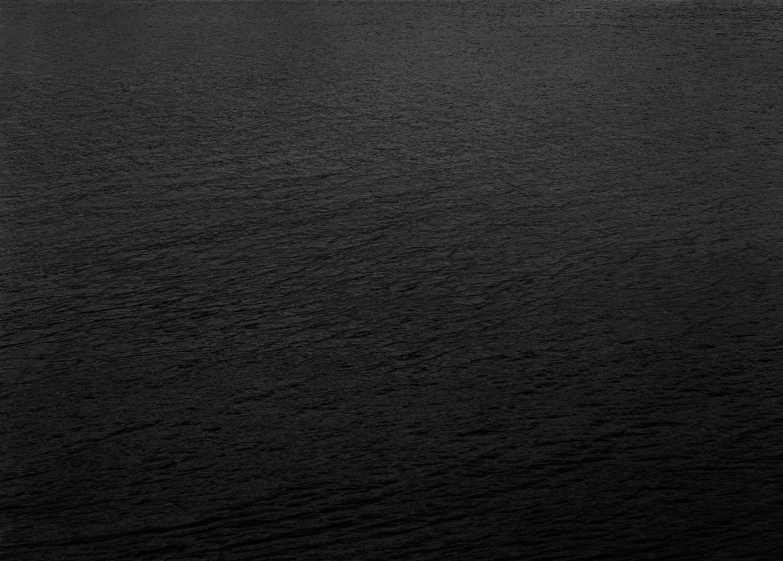 """Water, 45"" Minimalist Landscape Black and White Photograph 40""x55"""