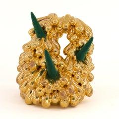 """The Golden Hour 7"", Contemporary, Ceramic, Sculpture, 22 Karat Gold, Flocking"