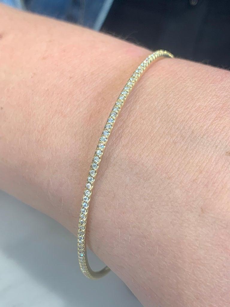 Women's or Men's Sasha Primak Yellow Gold Diamond Bangle Bracelet For Sale