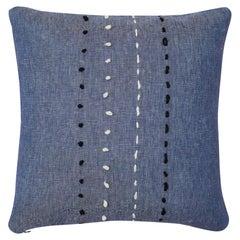 Sashiko Pillow, Blue, Maki Yamamoto