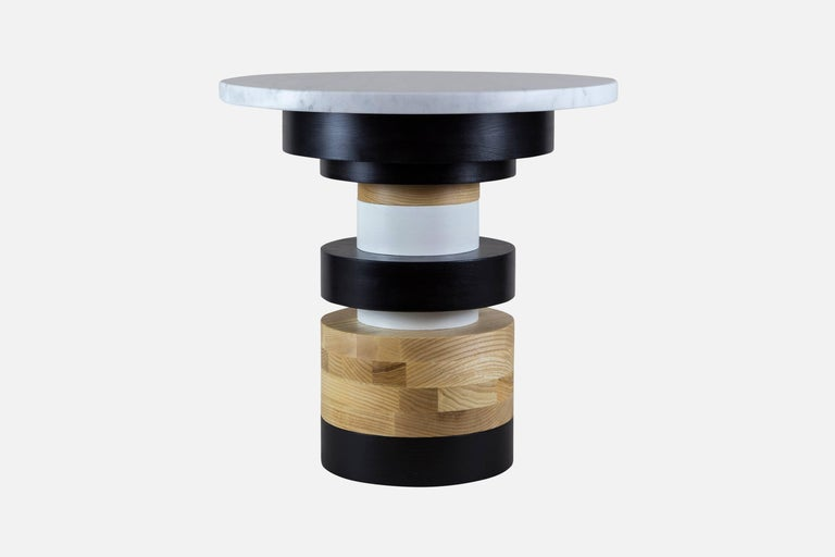This listing includes a short Sass side table (16