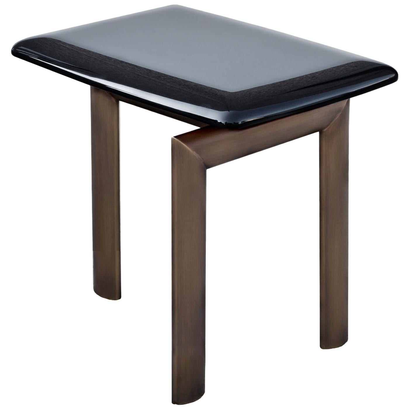 Sasso Rectangular Side Table by Bosco Fair