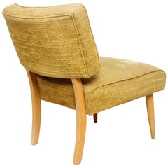 Sassy Blonde Yellow Side Slipper Chair Screams 1950s Billy Haines Midcentury