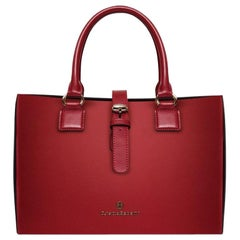 Satchel in Garnet Red