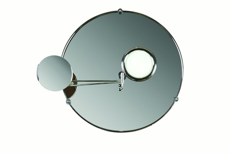 Art Deco Satellite Mirror by Eileen Gray for Ecart For Sale