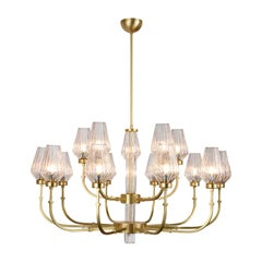 Satin Brass Chandelier