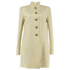 Satin Chanel A-Line Elongated Panel Jacket