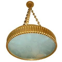 Satin Dore Bronze Hanging Plafonnier