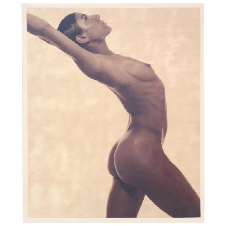 """Satin Finish Umber Photo-Lithograph by Karl Lagerfeld of """"Bianca Li"""", USA, 1990s For Sale"""
