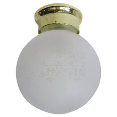 Satin Floral Glass Sphere Ceiling Glass Globe Pendant
