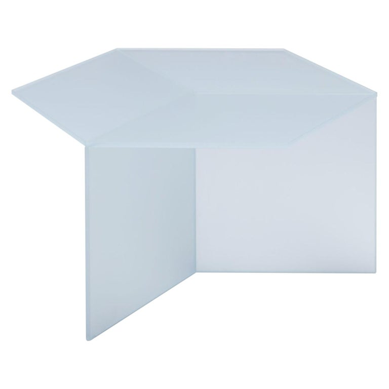 "Satin Glass ""Isom Square"" Coffee Table, Sebastian Scherer For Sale"