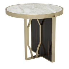 Satin Round Ebony Side Table