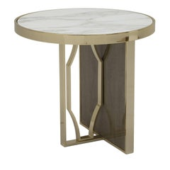 Satin Round Maple Side Table