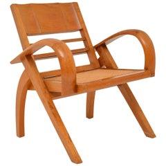 Satin Wood and Cane Vintage Satin Wood Armchair
