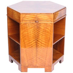Art Deco Hexagonal Libary Table att. to Heal's of London