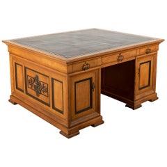 Satinwood and Ebony Desk