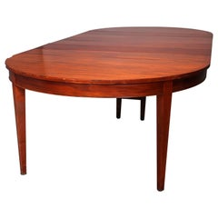 Satinwood Banded Mahogany Hepplewhite Style Banquet Table, circa 1930