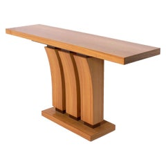 Satinwood Console Table, Pair Available