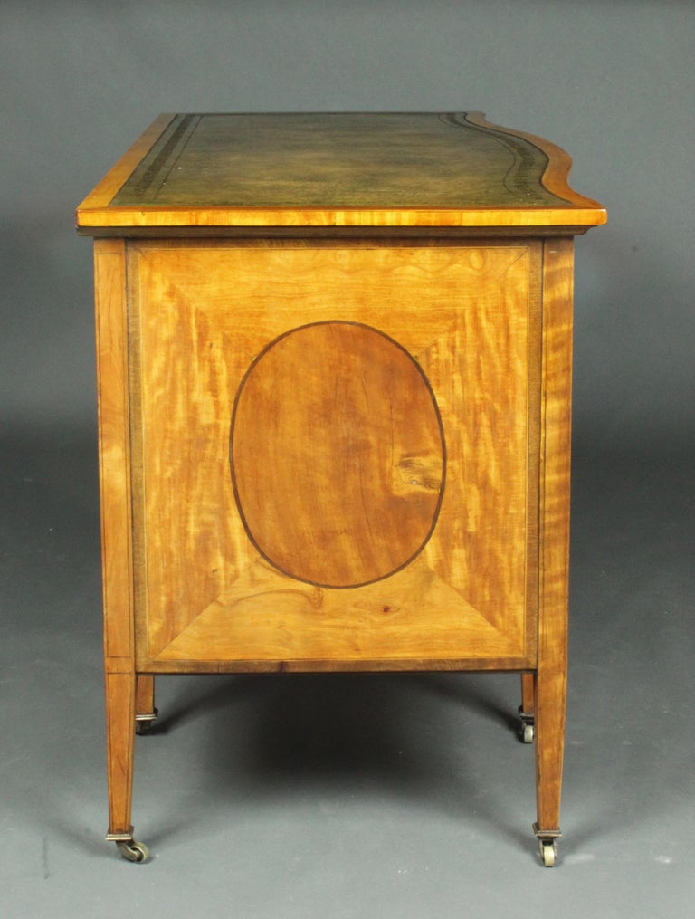English Satinwood Dressing Table by Edwards & Roberts, Once Owned by Maureen Swanson For Sale