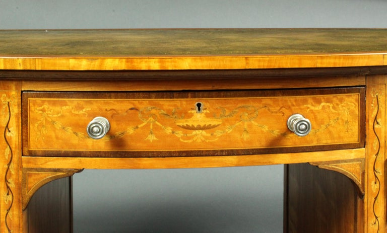 19th Century Satinwood Dressing Table by Edwards & Roberts, Once Owned by Maureen Swanson For Sale