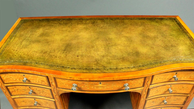 Walnut Satinwood Dressing Table by Edwards & Roberts, Once Owned by Maureen Swanson For Sale