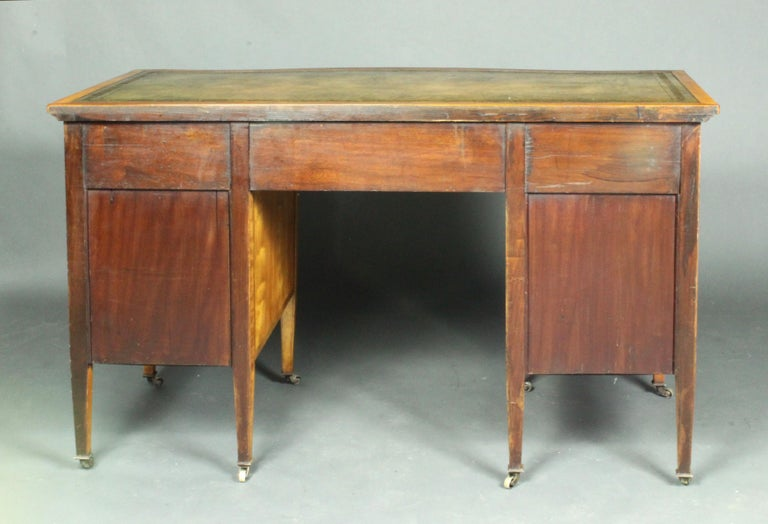 Satinwood Dressing Table by Edwards & Roberts, Once Owned by Maureen Swanson For Sale 1