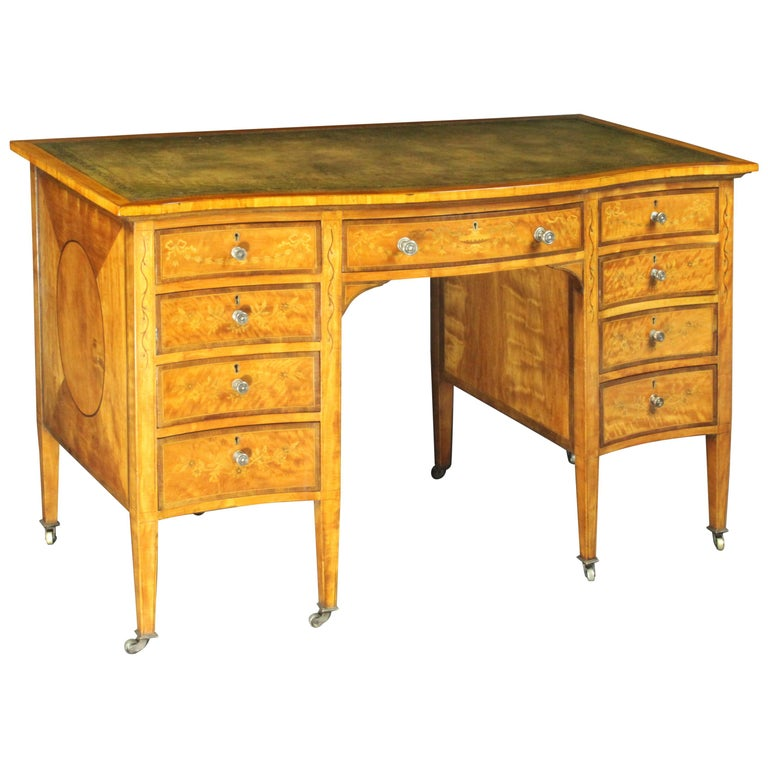 Satinwood Dressing Table by Edwards & Roberts, Once Owned by Maureen Swanson For Sale