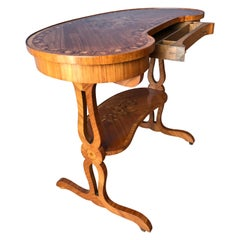 Satinwood Inlaid Writing Desk / End Table