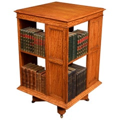 Satinwood Revolving Bookcase