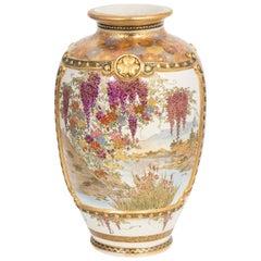 Satsuma Pottery Vase, circa 1890