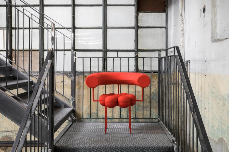 Saturn Chair, Red Frame and Red Wool by Lara Bohinc In New Condition For Sale In London, GB