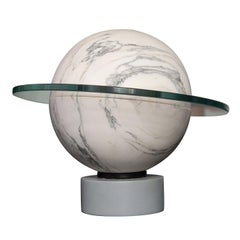 Saturnina Cordless Lamp in Alpi Apuane Green Marble