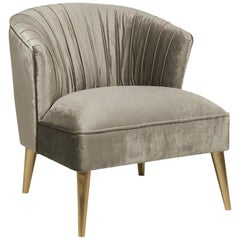 Saul Armchair with Grey Velvet