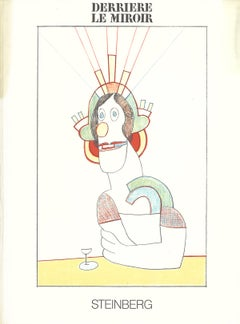 "Saul Steinberg-Cover for Derriere le Miroir-15"" x 11""-Lithograph-1977-Modernism"