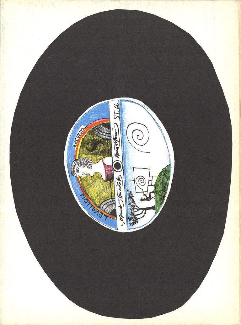 "Saul Steinberg-DLM No. 157 Cover-15"" x 11""-Lithograph-1966-Modernism-Black - Print by Saul Steinberg"