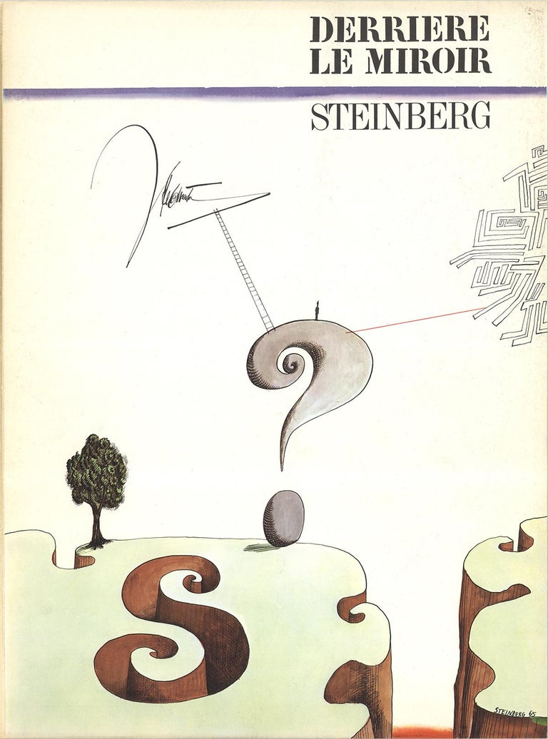 "Saul Steinberg-DLM No. 157 Cover-15"" x 11""-Lithograph-1966-Modernism-White - Print by Saul Steinberg"