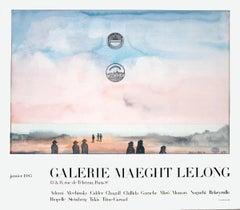 "Saul Steinberg-Galerie Maeght Lelong-26.5"" x 30.25""-Poster-1985-Modernism-Pastel"