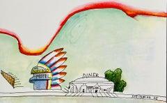 Saul Steinberg lithograph 1970s (Saul Steinberg prints)