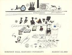 "Saul Steinberg-Robinson Hall Harvard University-25"" x 19""-Lithograph-1968-Modern"