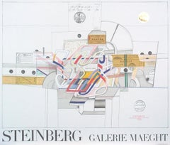 "Saul Steinberg-Ticket-24.5"" x 28.75""-Lithograph-1977-Modernism-Multicolor, White"