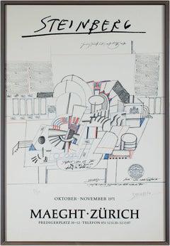 """Trompe L'Oeil,"" original color lithograph by Saul Steinberg"