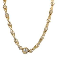 Sauro 18 Karat Yellow and White Gold Collar Necklace