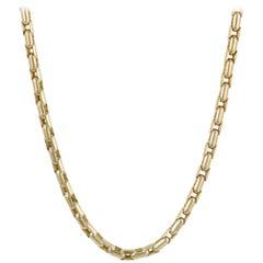 Sauro Men's 18 Karat Yellow Gold Venetian Link Necklace