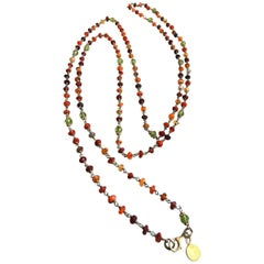 Sautoir Hard Stones Beaded Silver 925 Necklace