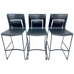 "Sava Cvek ""Rhythm"" Bar Stools for Stylex Furniture Company, Set of Three"